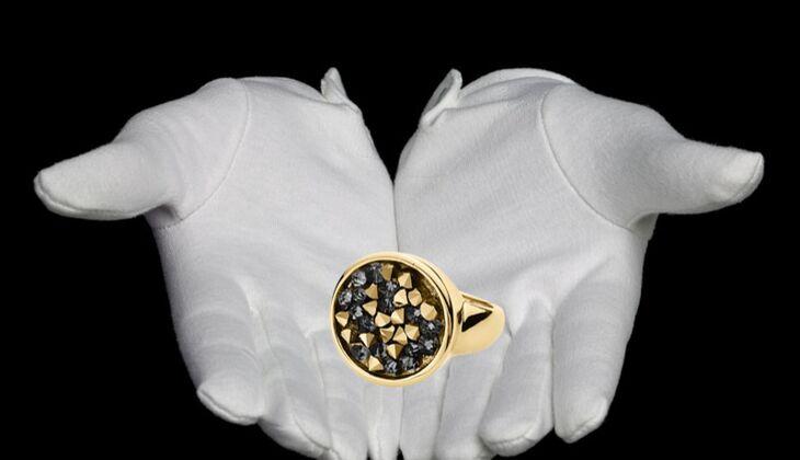Vergoldeter Ring von Dyrberg/Kern, zirka 89 Euro