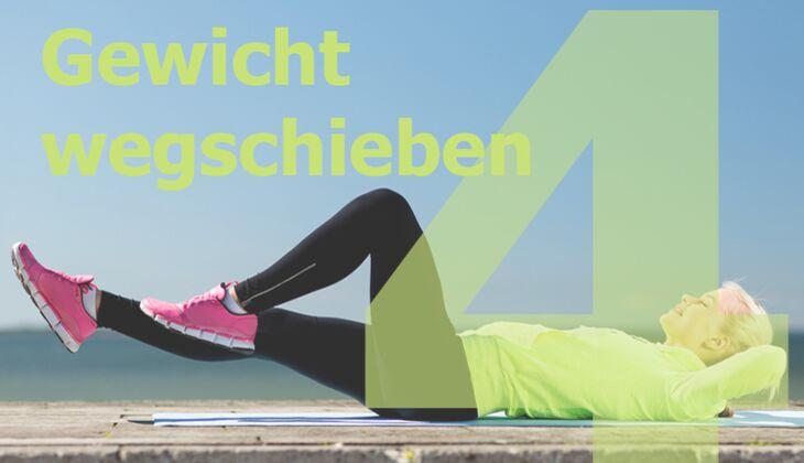 Workout Nr. 4 zum Fett verbrennen: Gewicht wegschieben