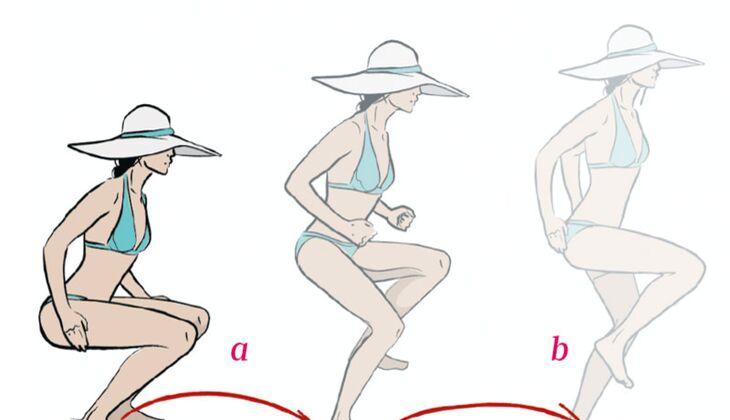 Workout für den Urlaub: Hüpfen und Halten