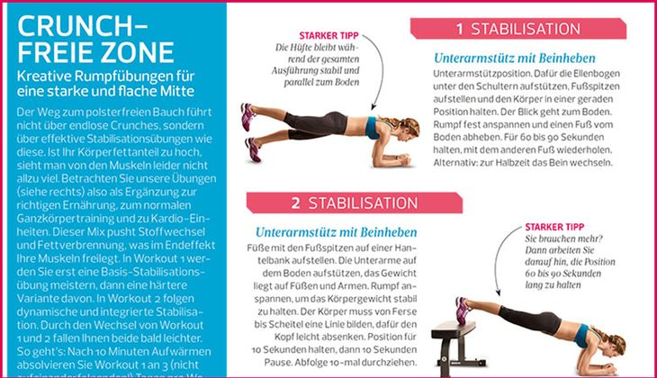 Workout für einen straffen Bauch