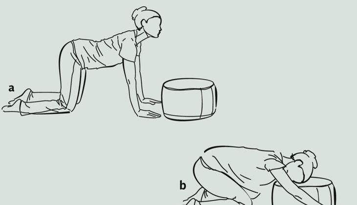 Yoga-Übungsreihe gegen Kopfschmerzen