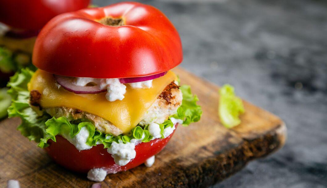 Wie wäre es mit Gemüse als Burger-Bun?