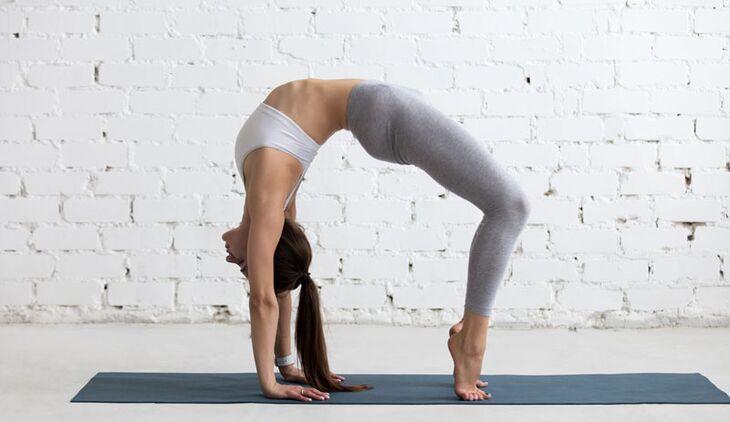 Yoga pose wheel